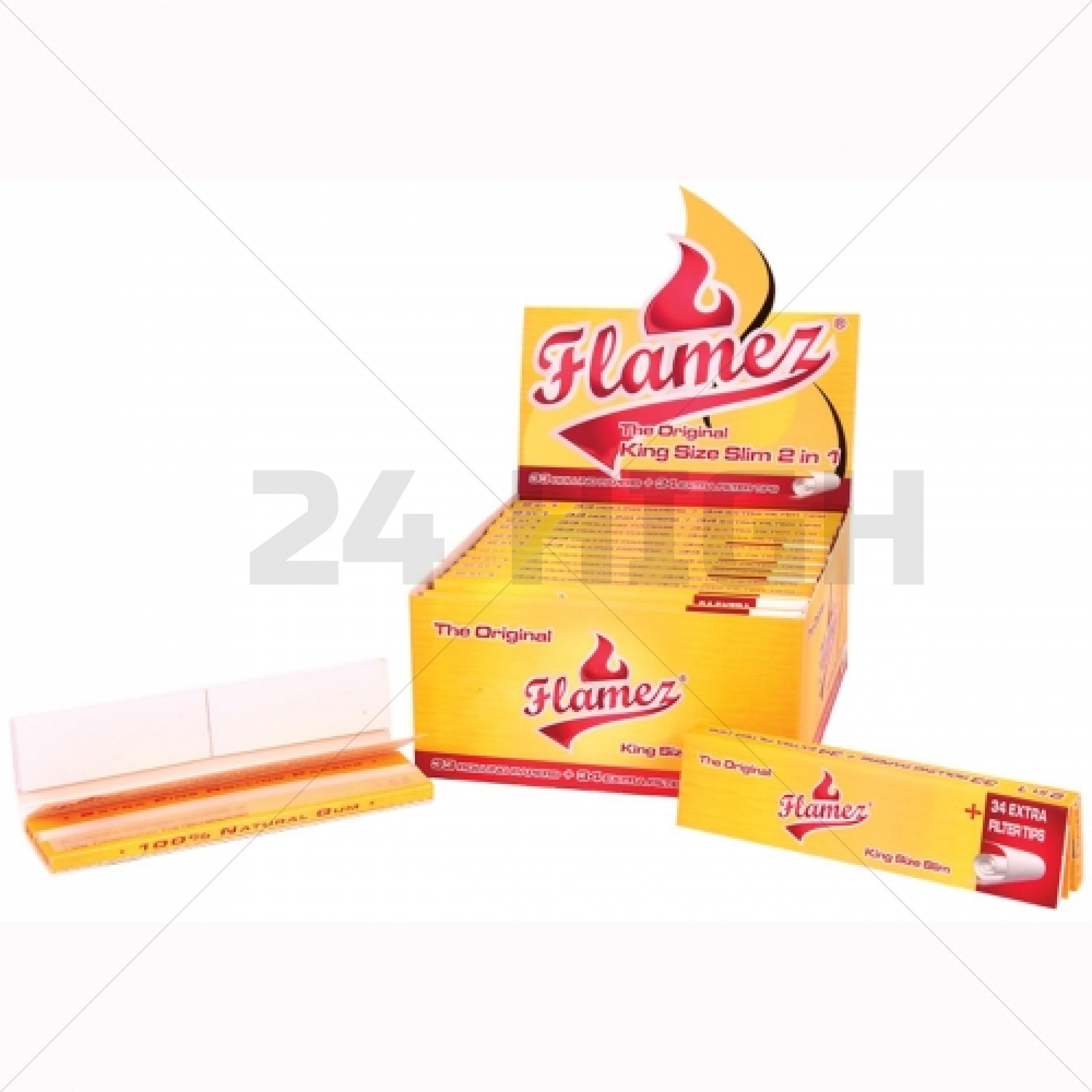 Flamez Yellow 2 in 1     King Size Slim