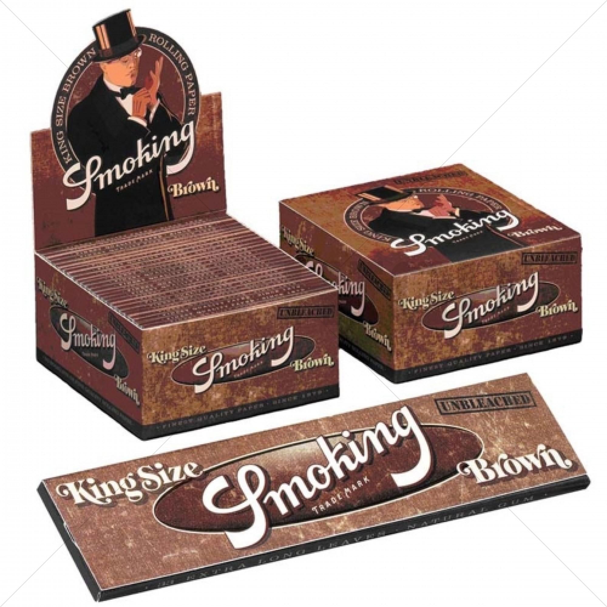 Smoking Brown King Size - 50 Pcs