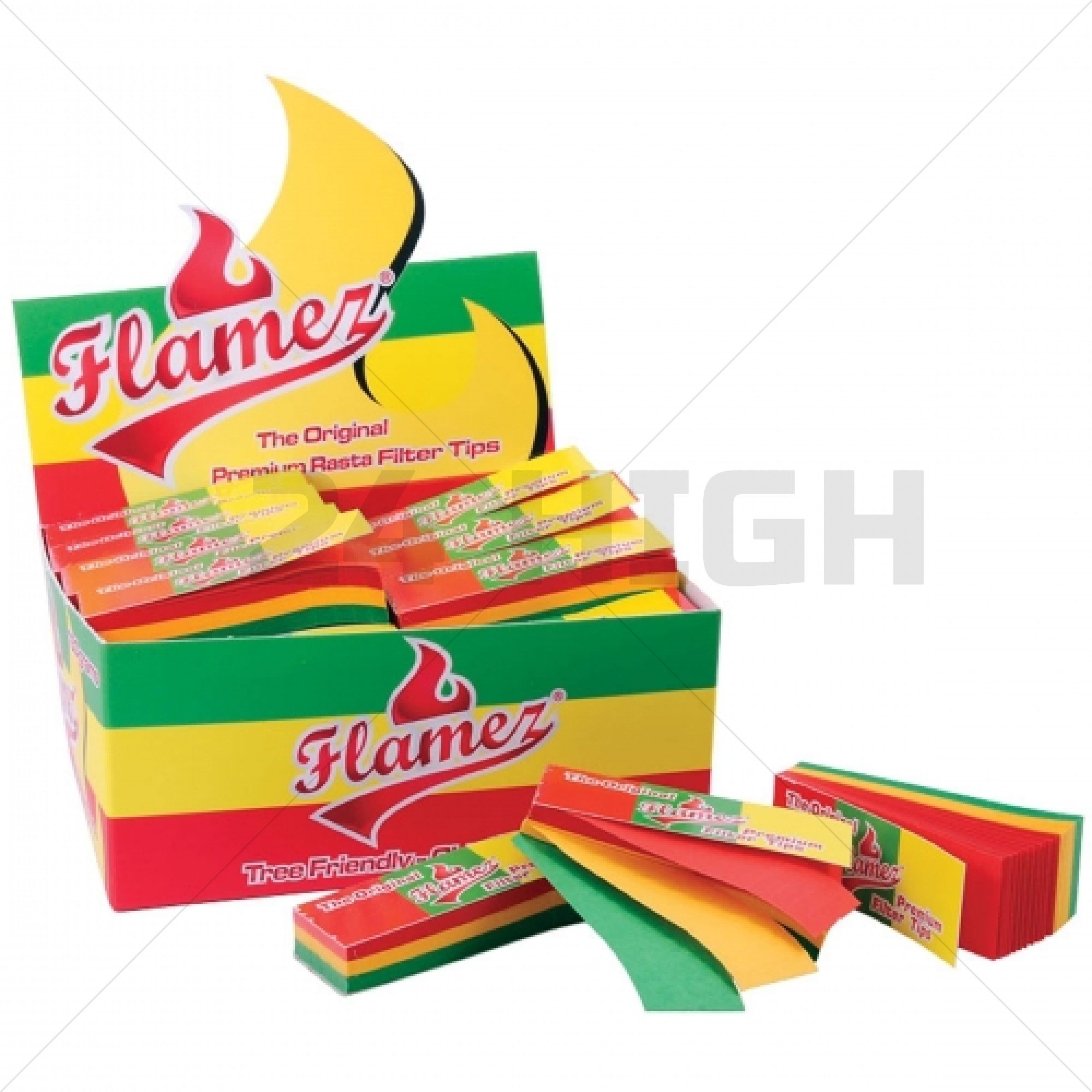 Flames Rasta Tips