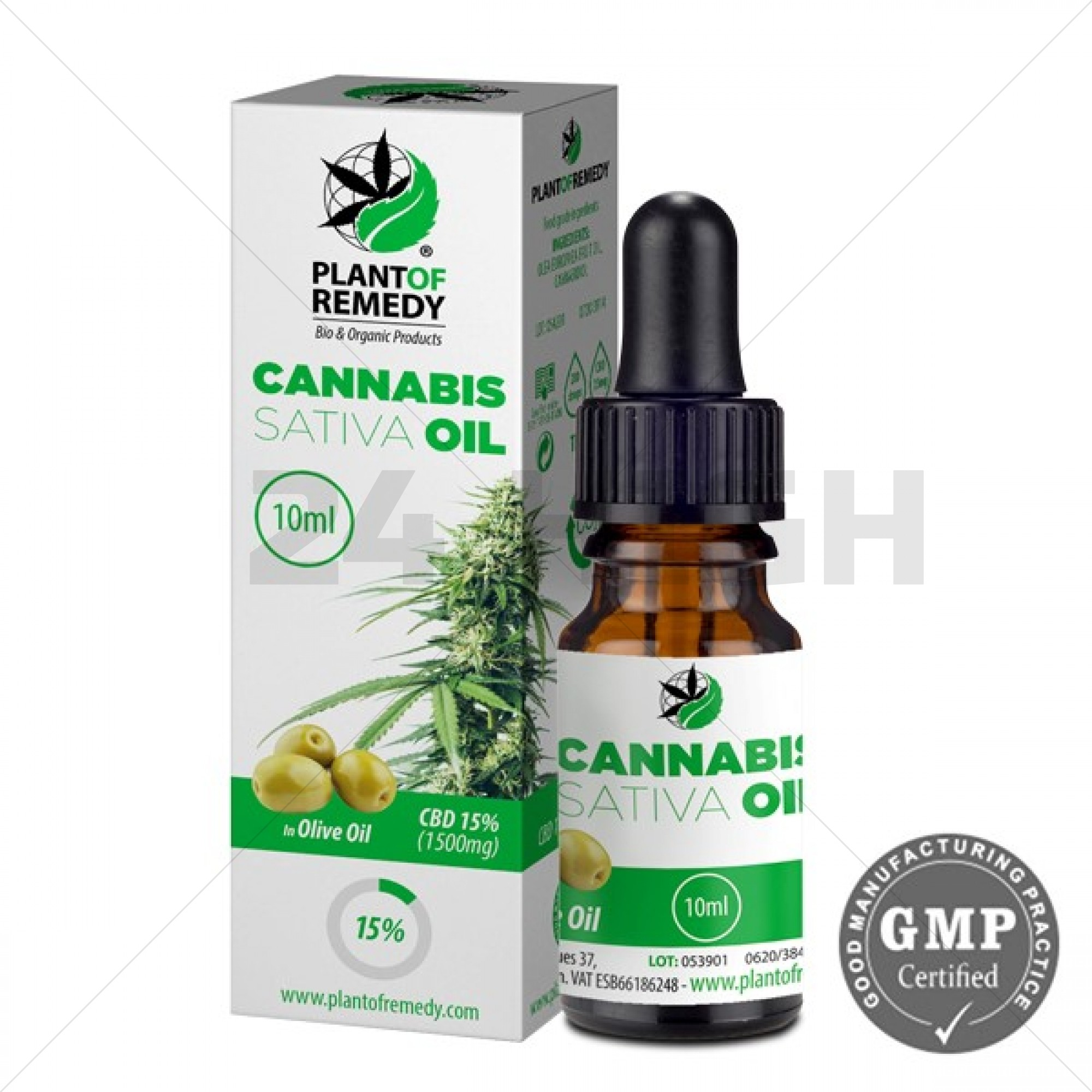 Plant of Remedy Cannabis Olie met Olijfolie - 15% CBD (1500mg)