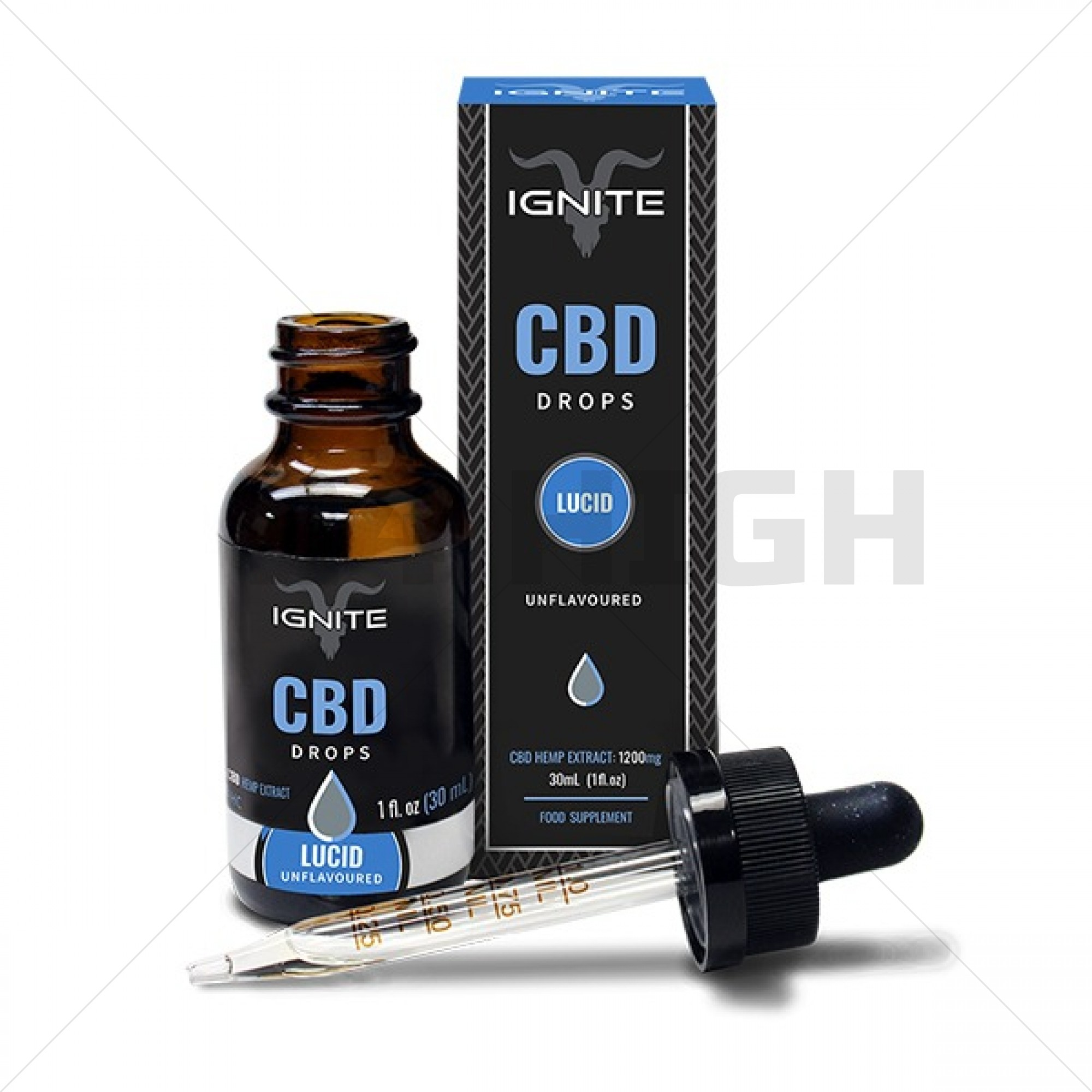 Ignite CBD Drops Lucid 500 mg - Unflavoured 30ml