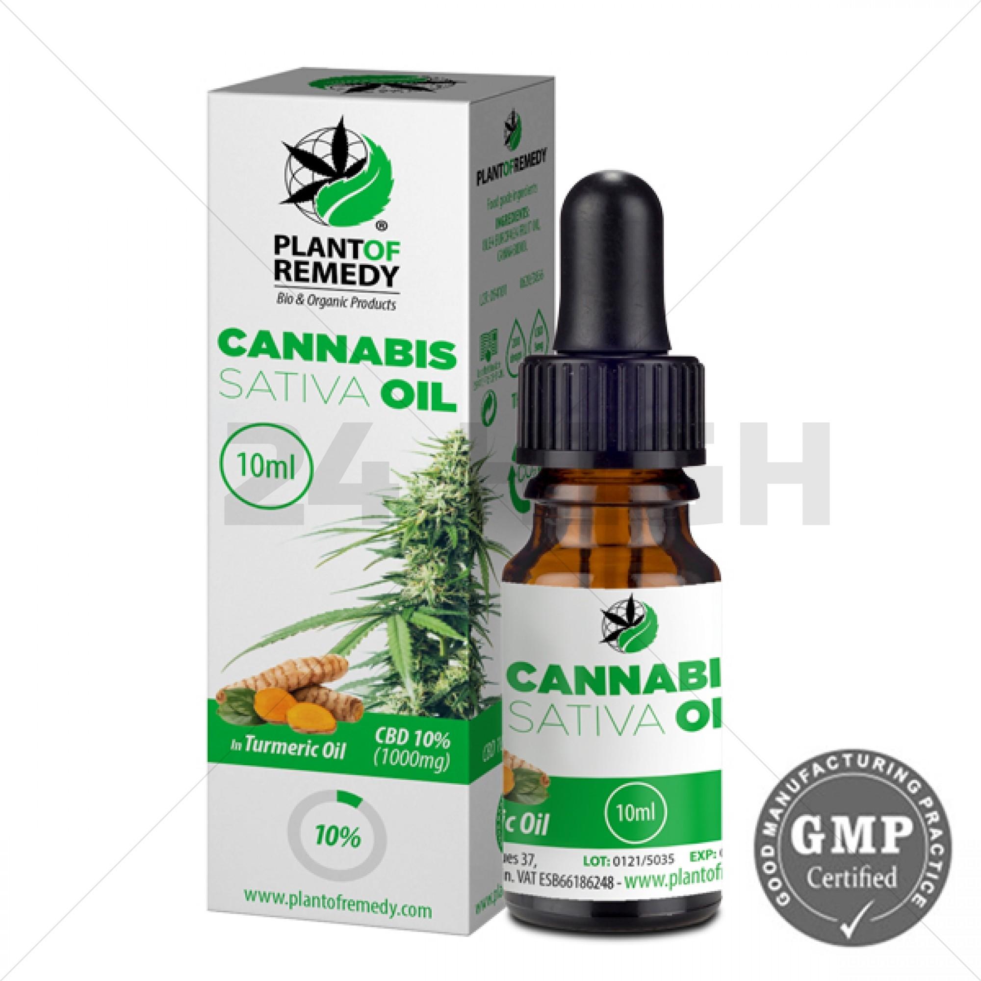 Plant of Remedy met Kurkuma Olie - 10% CBD (1000mg)