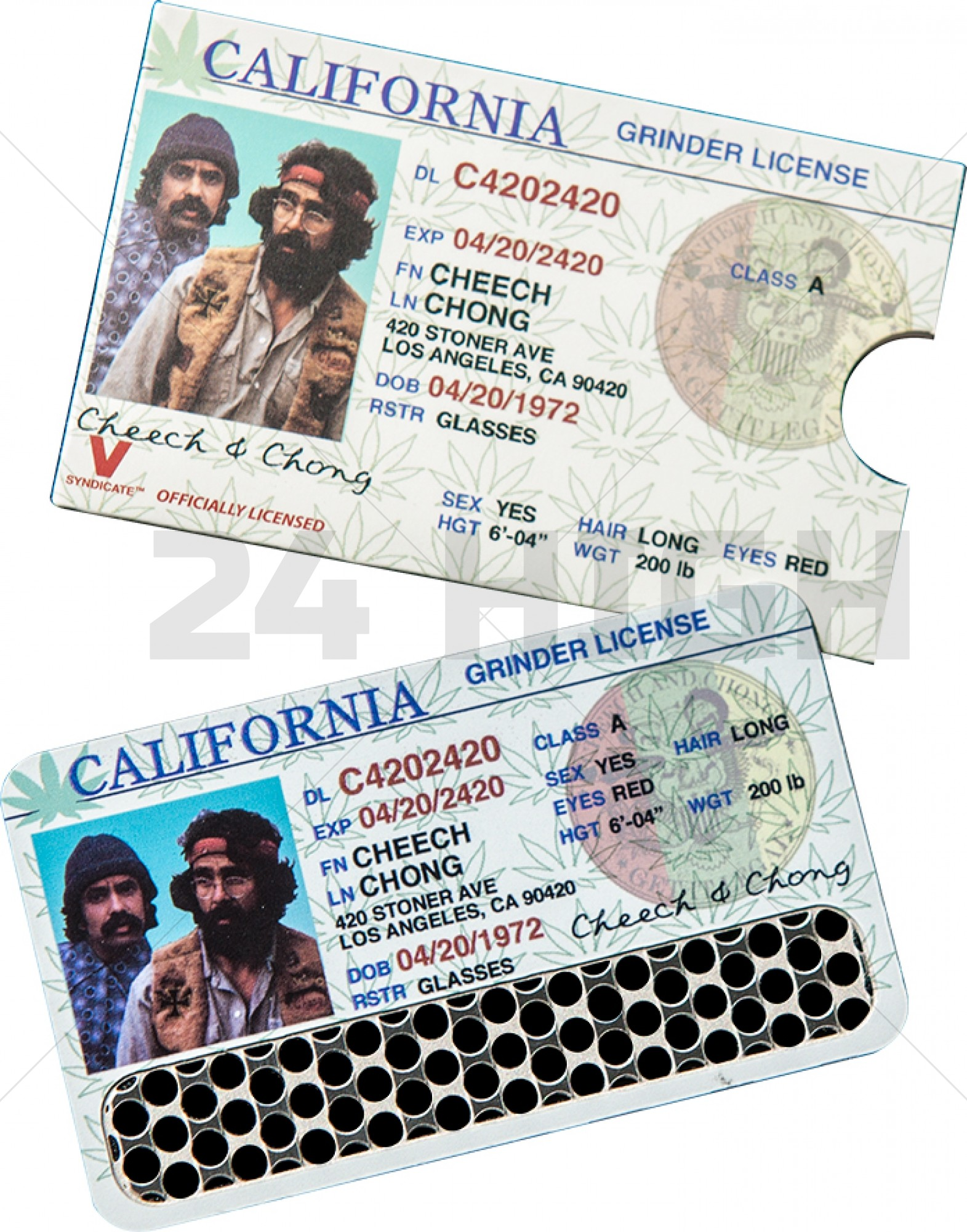 Credit Card Grinder, Cheech and Chong License