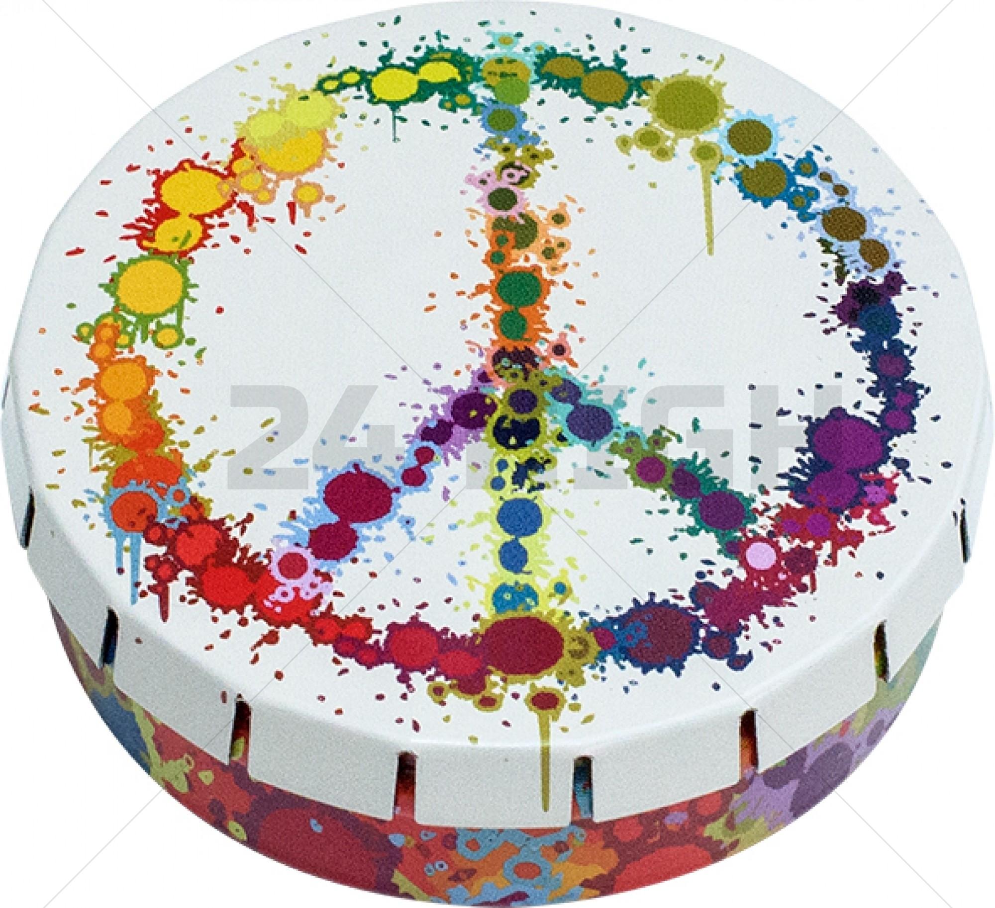 Click-Clack Box (Ø 5,5 cm) Peace Colorful