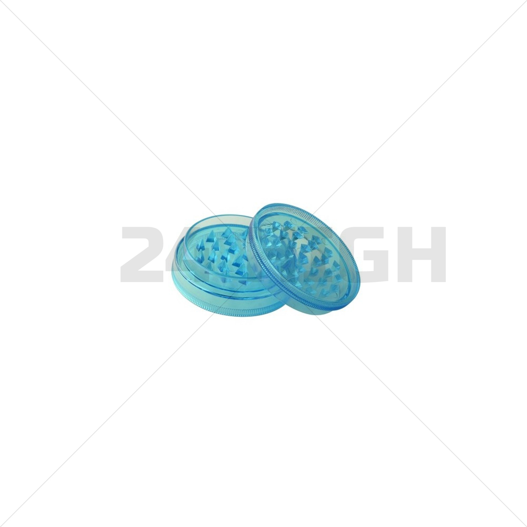 Grinder Plastic (Ø 60 mm, 2 Parts Magnetic + Stash), Turquoise