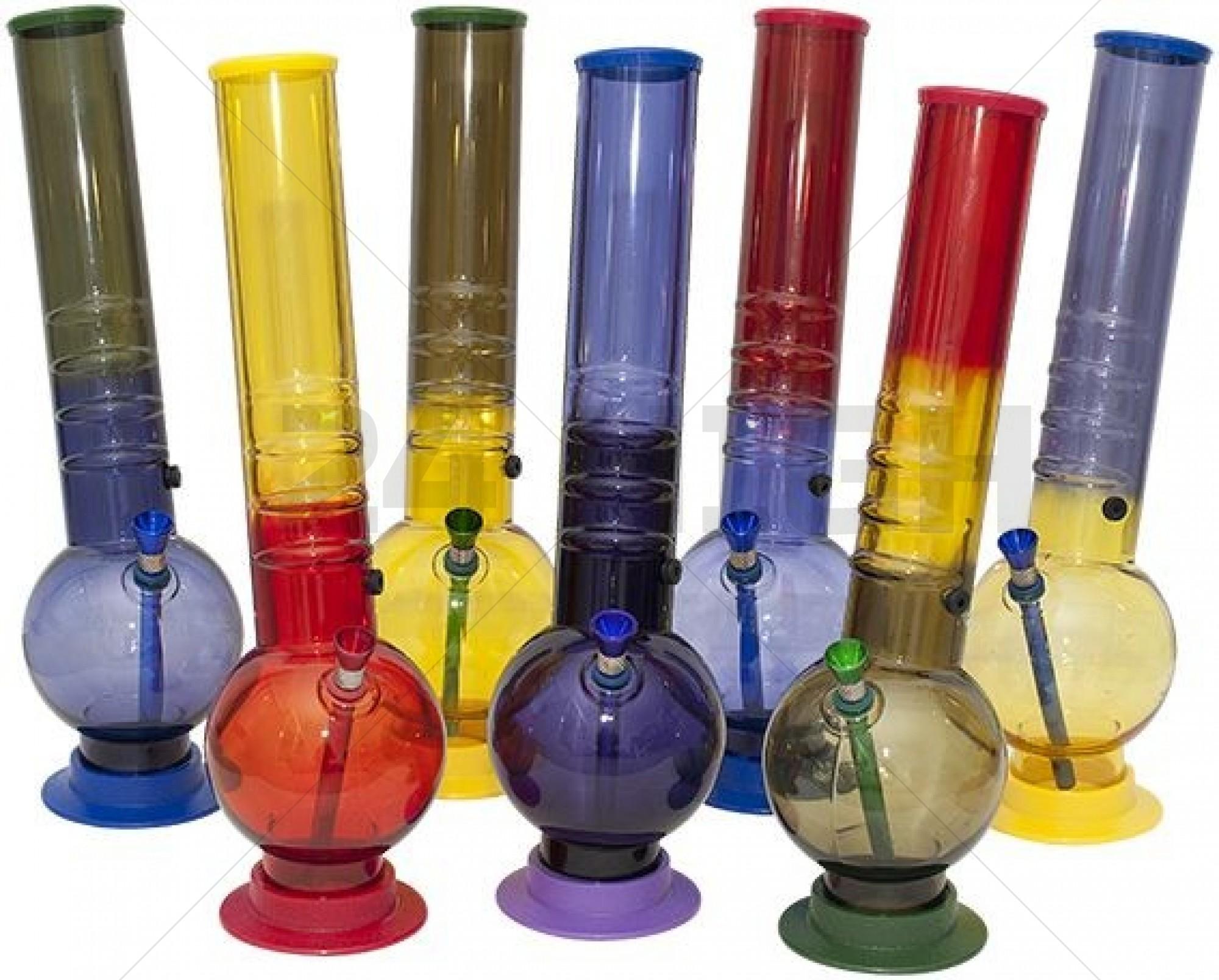 Acrylic Bong 2 Inch Colour 36,5 cm Colour Parts