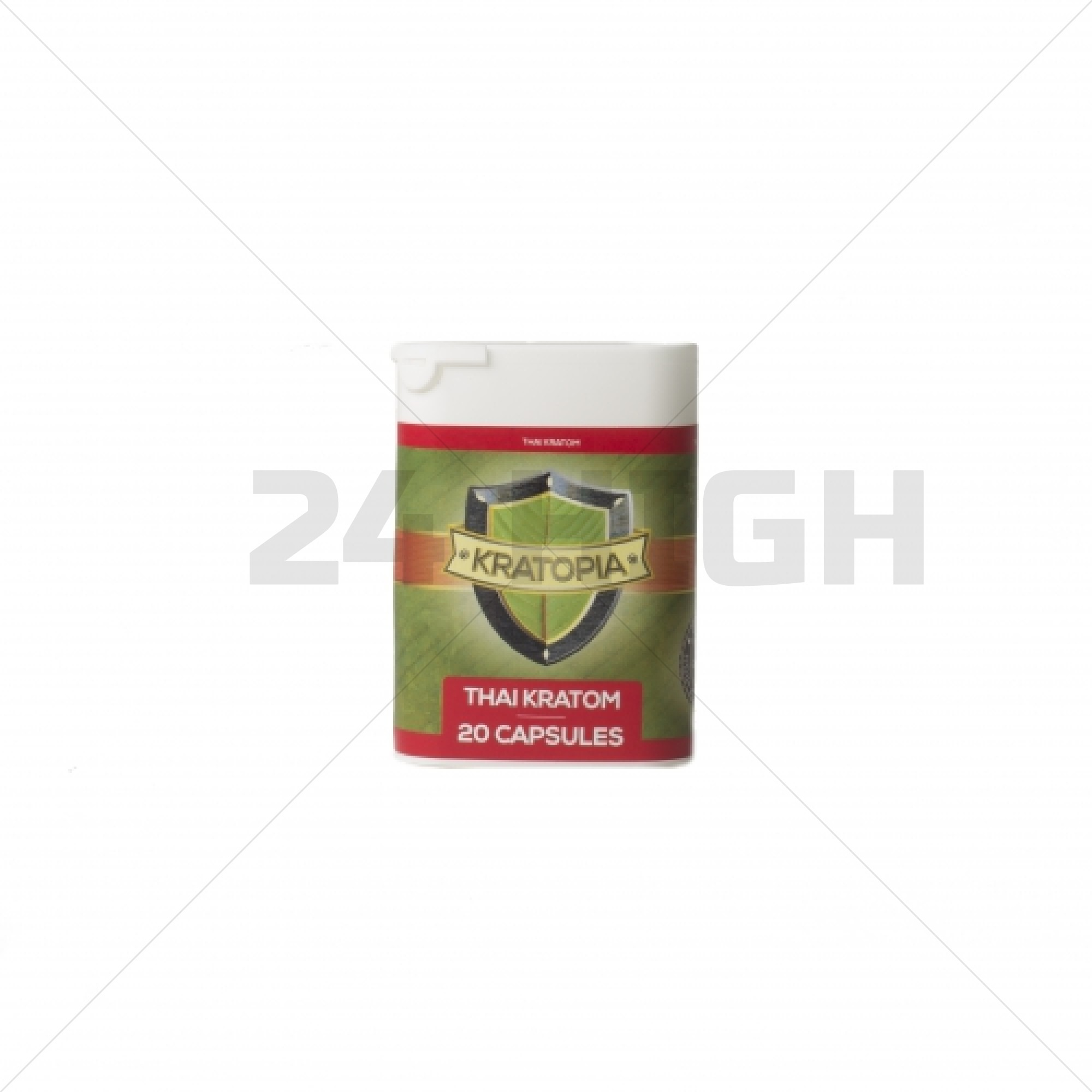 Thai Kratom capsules red